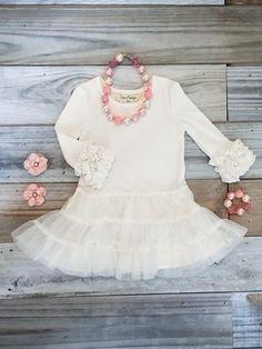 190a58bf2 Www.ZoeAddelyn.com Snowcream tutu boutique dress snow cream white under  dress icings tutu