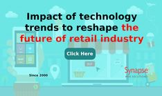 Reshape the functioning of your RETAIL BUSINESS with help of the LATEST TECHNOLOGY TRENDS.   Witness increased sales of products and enhanced brand value.   Count on technical services of SynapseWebSolutions at competitive rates. Technical Innovation, Increase Sales, Ups And Downs, Latest Technology, Count, Retail, Industrial, Trends, Future