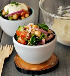 chickpeas & quinoa salad --sounds good. I would use less for the dressing. Can't wait to try--