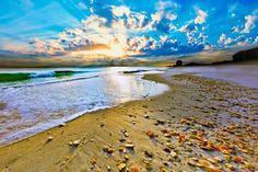 view Amazing Blue Beach Sunset
