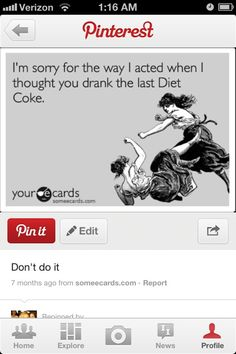 Diet coke addiction