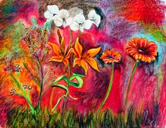 Art Paintings Ideas For Your Wall Decor: Flower Art Paintings Ideas With Red Theme Painting For Your Wall And Home Accessories Tattoo Character, Educational Crafts, Alcohol Ink Art, Animal Quotes, Exotic Pets, Christmas Humor, Diy Flowers, Dark Fantasy, Art Education
