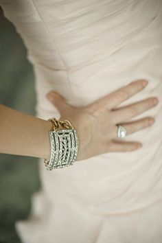 Bride's Jewelry ~ Custom made from her grandmother's vintage shoe clips!