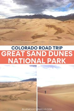 One of the most epic landscapes in Colorado, here's everything you need to know for planning a day trip to Great Sand Dunes National Park in Colorado #coloradotravel | national parks in colorado road trips | colorado national parks road trips | colorado national parks | colorado day trips from denver | best things to see in colorado | best national parks in colorado | the great sand dunes colorado | great sand dunes national park camping | great sand dunes colorado | great sand dunes photography Denver Colorado, Road Trip To Colorado, Visit Colorado, Us Road Trip, Usa Travel Guide, Travel Usa, Travel Guides, Travel Tips, National Park Camping