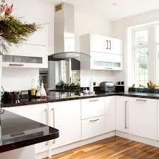 modern white and black kitchens wood flooring - Google Search