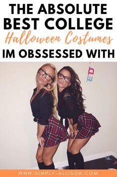 Here are the best of the best halloween costumes for girlsThe Hottest Halloween Costume Ideas For Here are 30 Insta-worthy Halloween costume ideas for college students.The best halloween costume ideas that I ever seen. Easy College Halloween Costumes, Girl Group Halloween Costumes, College Costumes, Popular Halloween Costumes, Trendy Halloween, Happy Halloween, College Fun, College Students, College Hacks