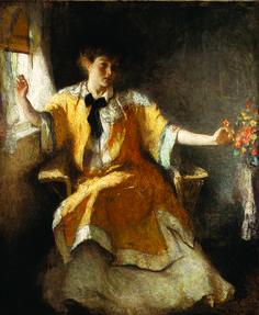 "Frank Weston Benson's ""Young Girl by a Window"" (GMOA 1945.4) was on view as part of the exhibition ""Impressionist Summers: Frank W. Benson's North Haven"" at the Farnsworth Art Museum, Rockland, Maine, June 16 – Oct. 21, 2012."
