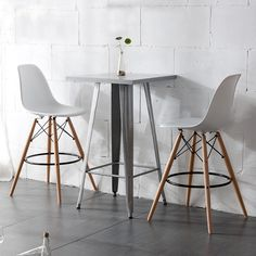 Bring a contemporary design to any room with these bar stool. Whether you're wanting to pair them with a high table, a bar, or want them to stand on their own, the variety of colors make it so they will fit with any room's color and decor.