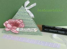 Einfache Dreiecksbox/Goodie/ Mitbringsel Stampinup, Tricks, Packaging, Cards, Ideas
