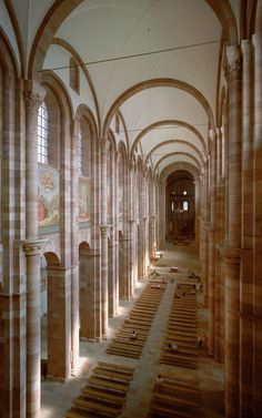Interior, Speyer Cathedral. Germany. As remodeled c. 1080-1106.