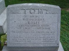 Gravesite of author Thomas Wolfe, Riverside Cemetery - Asheville, North Carolina.  Go to www.YourTravelVideos.com or just click on photo for home videos and much more on sites like this.