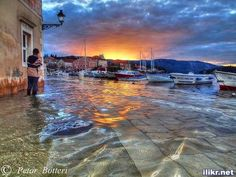 High tide - Stari Grad - Croatia by Petar Botteri