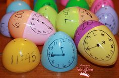 Help students learn to tell time with Easter eggs. | 19 Inexpensive DIYs Every Elementary School Teacher Should Know