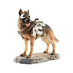 Everyone was delighted to meet their four-legged companion Dogmeat in the wastelands. Dogmeat brings his full set of armor and has a second head wi. Fallout, Statues, Artificial Reality, Two Heads, Interactive Art, Four Legged, Game Art, Robot, Camel