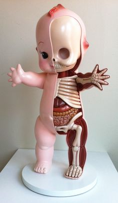 "Jason Freeny - Giant Kewpie Anatomy Sculpt - maybe not so much ""wrong"" as ""astoundingly creepy"" Kitsch, Anatomy Sculpture, Hi Fructose, Lowbrow Art, Creepy Cute, Scary, Creepy Dolls, Puppets, Sculpting"