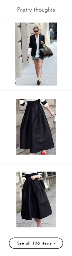 """Pretty thoughts"" by clothesmonkey ❤ liked on Polyvore featuring skirts, a line skirt, vintage high waisted skirts, circle skirts, a line midi skirt, knee length a line skirt, black, vintage midi skirt, midi circle skirt and high waist skirt"