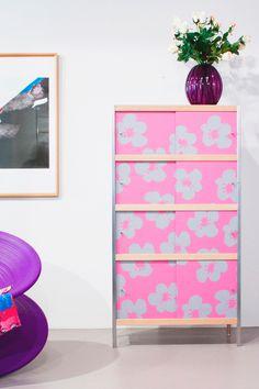 Designerkast met Italiaanse allure. Kewlox model Navone #roze #kast