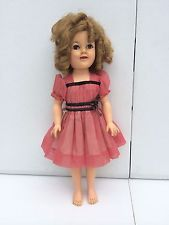 """VINTAGE 1950'S IDEAL 17"""" SHIRLEY TEMPLE ST-17 DOLL W ORIGINAL DRESS"""