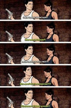 Archer - stuff like this is why I love this show Archer Tv Show, Archer Fx, Funny Cute, Hilarious, Stupid Funny, Archer Quotes, Sterling Archer, Cartoon N, Danger Zone