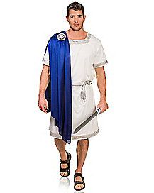 Spirit Hallowen - Blue Greek Emperor Adult Mens Costume