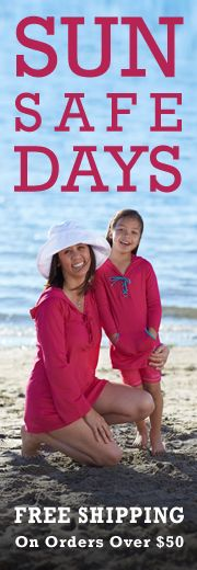 Free Shipping Melanoma stinks!  SPF Clothing is a great invention