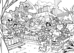 marvel hero squad coloring pages - photo#43