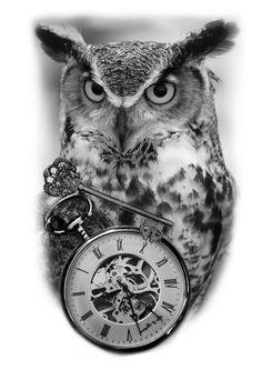 Sketch Style Tattoos, Tattoo Sketches, Wolf Tattoos, Animal Tattoos, Owl Eye Tattoo, Indian Skull Tattoos, Pirate Tattoo, Skull Sketch, Clock Tattoo Design