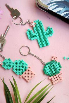 DIY Gift: Cactus Key Pendant with Hama Strap Beads