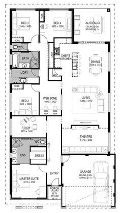 Luxury Home Designs Perth - Luxury House Plans - National Homes 4 Bedroom House Plans, Luxury House Plans, Dream House Plans, House Floor Plans, Building Plans, Building A House, Home Lottery, Home Design Floor Plans, House Map