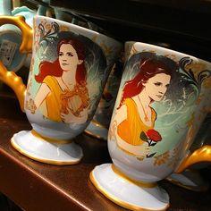 New Live Action #beautyandthebeast mugs featuring #EmmaWatson as Belle. #Disney