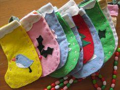 sweet little felt stockings: by Aneela Hoey on Flickr