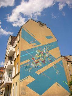 Poznan Poland, Górna Wilda 89, Festiwal Murali Outer Spaces 2012, made by Chazme i Nawer