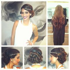 Faux bob for Great Gatsby themed party