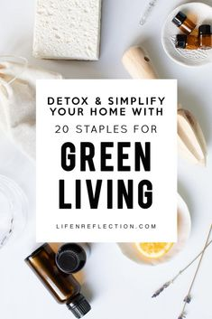 Detox and simplify your home with 20 Must Have Green Living Essentials for healthier more sustainable living. Use the printable market list to get started! Natural Cleaning Recipes, Natural Cleaning Products, Natural Products, Cleaning Tips, Eco Friendly Cleaning Products, Green Living Tips, Living At Home, Clean Living, Simple Living