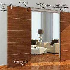 The Loft II (Double Wood Door Kits) - Architectural Products by Outwater Contemporary Internal Doors, White Internal Doors, Double Doors, Wood Barn Door, Sliding Barn Door Hardware, Custom Wood Doors, Wooden Doors, Interior Barn Doors, Exterior Doors