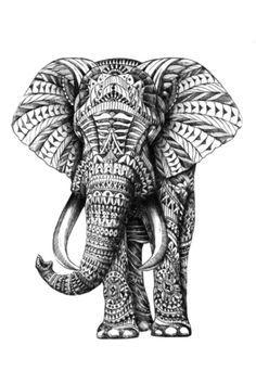 indian elephant tattoo - Google Search