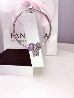 50% OFF!!! $119 Pandora Bangle Charm Bracelet Purple. Hot Sale!!! SKU: CB01860 - PANDORA Bracelet Ideas
