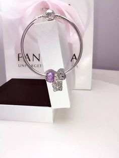 50% OFF!!! $119 Pandora Bangle Charm Bracelet Purple. Hot Sale!!! SKU: CB01860 - PANDORA Bracelet Ideas