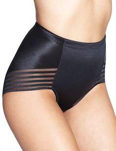 adf3ec8dee62d Black Firm Control No VPL High Leg Knickers Clothing Shapewear