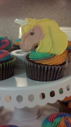 Lady Rainicorn Cupcakes