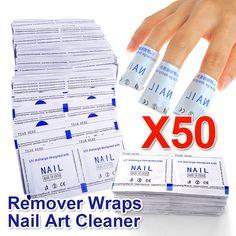 Hot Sale Beau Gel Professional 50 Pcs / Lot Gel Polish Remover Wraps High Quality Nail Art Gel Polish Nail Art Cleaner ND001*50
