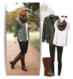 """""""Military jacket, leopard scarf & leggings"""" by steffiestaffie ❤ liked on Polyvore featuring Splendid, Frye and Coach"""