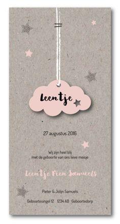Labelkaart wolk- Leentje voor