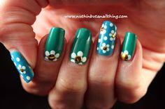 flower nail art with sinful colors savage and rise and shine