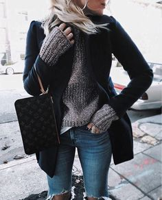 Chunky knit and sleek topper, keep your sweater weather wear cool via @_thefab3's 50% off essentials | Get ready-to-shop details with www.LIKEtoKNOW.it | http://liketk.it/2pICF #liketkit