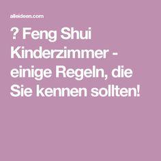 ▷ Feng Shui Kinderzimmer - einige Regeln, die Sie kennen sollten!