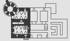 Plan dworu w Wieruszycach wg m. Korneckiego.Czarnym kolorem zaznaczony obecna część dworu Floor Plans, Diagram, Historia, Floor Plan Drawing, House Floor Plans