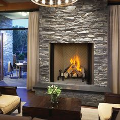 The Icon Is The Industry S Largest Wood Burning Fireplace Its