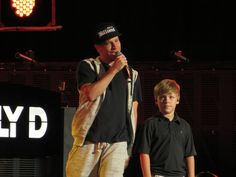 Brian Littrell of Backstreet Boys and son, Baylee Littrell In A World Like This Tour Bristow, Virginia August 18, 2013
