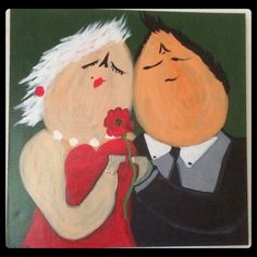 Romance  Acryl painting on canvas 50x50cm by Assie's Art  (for sale).